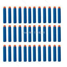 400 шт. 7.2 x 1.2 см дети игрушечный пистолет пуля дартс с полукруглой головкой NERF для NERF N-Strike синий цвет