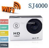 Free shipping!WIFI video action camera full hd 1080p waterproof 30M Sport camrea WIFI