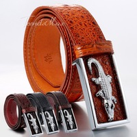 36mm Mens Belt Split Genuine leather Cowhide Belt Business Casual Dress w Metal Buckle Crocodile Aligator Pattern Gift UTM89