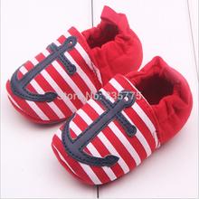 2015 New Fashion Spring Autumn 100% Cotton Newborn Baby Prewalker Fringe Anchor Shoes Infant Toddler Soft Soled Bottom Footwear(China (Mainland))