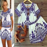 2015 vestido de festa Women Dresses Plus Size China element pattern short Sleeve Mini Club Party Dress Free Shipping vestidos