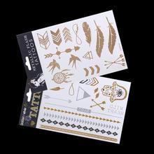 2pcs/lot temporary tattoo sex products bracelet flash tatto metallic gold tattoos jewelry henna tatouage taty(China (Mainland))