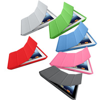 1:1 Luxury Original Smart Cover Case for iPad  2 3 4 Tablet Ultra Slim Flip PU Leather Stand Cases For Apple iPad