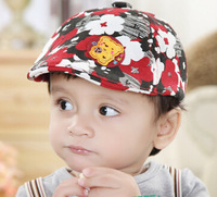 Wholesale 10pcs/Lot 2015 Kids Floral Fitted Flat Caps Quality Babies Spring Hats Boys and Girls Summer Flat Cap Toddler Hat