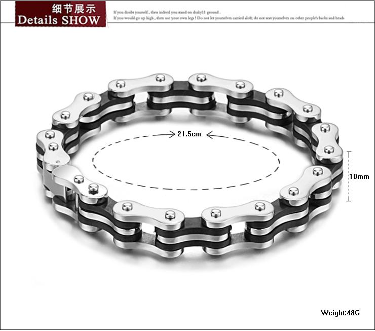 2015 316L Stainless Steel Bracelet Men Biker Bicycle Motorcycle Chain Men's Bracelets Mens Bracelets & Bangles Fashion Jewelry(China (Mainland))