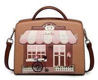 Brown lovely fashion handbags, ladies house style bag, shoulder bag diagonal brands, exclusive design high-end materials