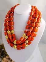 F0068!! Hotsale!! fashion orange elegant  African Wedding Bridal Coral