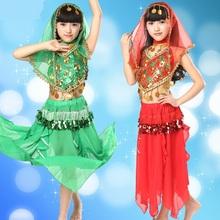 2015 New Girl Belly Dance Costume Pants Veil Paillette Performance Exercises Dancewear Hip Scarf Skirt Danza Del Vientre LD060