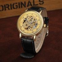 Free shipping! New popular luxury mechanical wrist watches men, Fashion causal quartz watch women