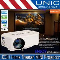 UNICUC30 HD Home Theater MINI Projector For Video Games TV Movie Support HDMI VGA AV Portabledia Home theater HDMI VGA AV USB SD