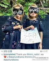 2015 Spring Brand Children Girl Black Cartoon Cat Printing Dress kids Princess Fashion Long sleeve cotton dresses