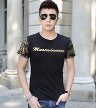 2015 nuovo modo di arrivo casuale a maniche corte t-shirt uomo, gli uomini di marca più il formato m-xxl, da uomo in cotone t-shirt di alta qualità  (China (Mainland))