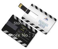 300Pcs Wholesales credit card usb flash pen drive + Free logo printing + Free DHL shipping