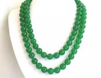 """Free deliver goods wholesale and retail Charming! 10mm Emerald Jasper Necklace 35"""""""