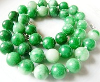 Free Shipping Fashion Trendy Green Emerald Jade STONE Loose Beads Necklace15INCH Wholesale Price E0040