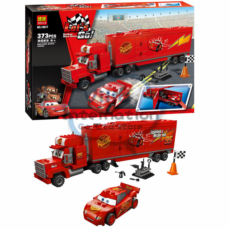New Bela block Mack's Team Truck Cars Building blocks minifigures Action and toy figures Compatible With lego(China (Mainland))
