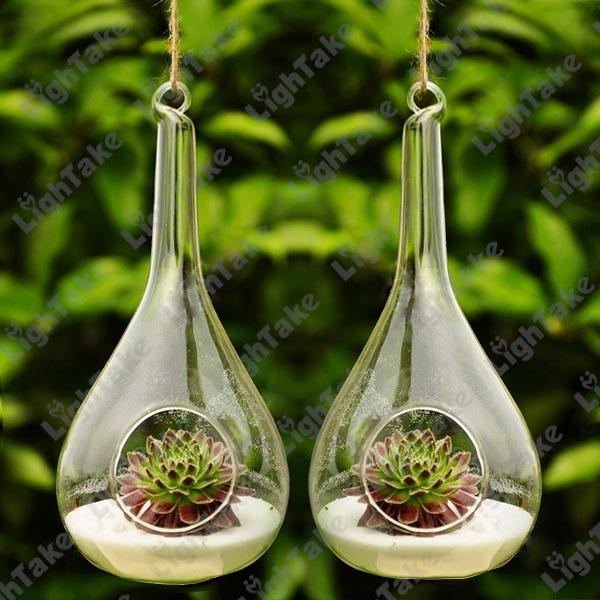 Ваза OEM 2 /, 2 Pcs/Set Crystal Clear Glass Hanging Vase 63197