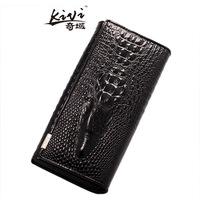 Fashion, ladies leather wallet, long wallet, 3D wallet stereo crocodil, alligator purse, creative ladies purse,