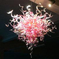 Attractive Heart Shaped Pink Chandelier Lighting