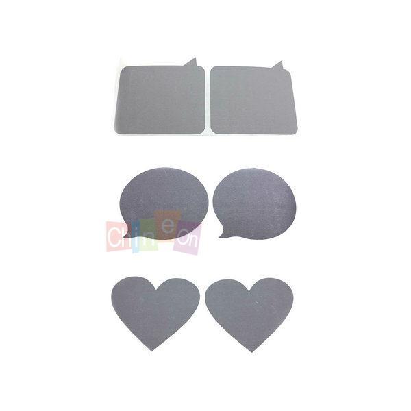 1PC Novelty Gift Love Heart Shape GuestBook Secret Message Sticker DIY Scratch Card(China (Mainland))