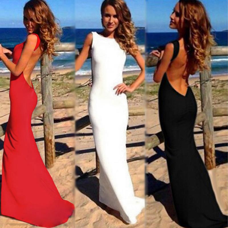 платья с голой спиной фото