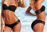 2015 New Sexy Women VS Swimwear Bathing Suit Push Up Bikini Set Female Triangle Bikinis Summer Swimsuit FREE SHIP
