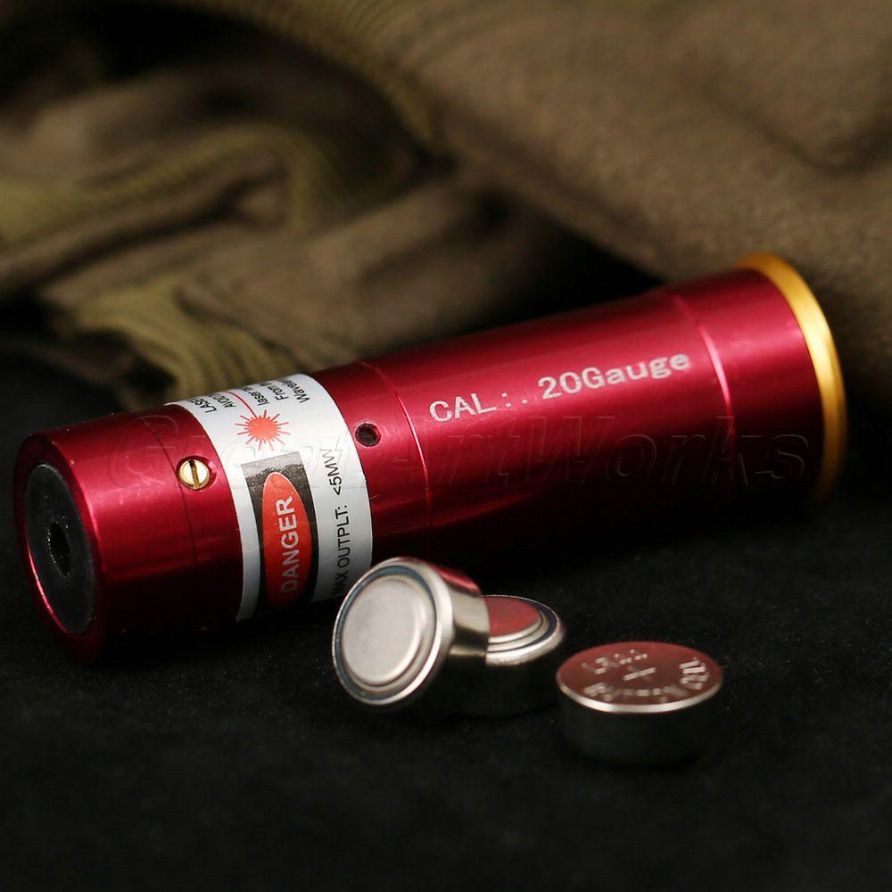 Hot Sale 20 Gauge Red Dot Cartridge Laser Bore Sight Boresight 20GA Sighter Rifle for Hunting Free Shipping(China (Mainland))
