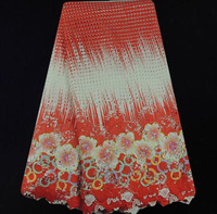 EY7-6!Hot selling guipure lace fabric in colorful,water soluble lace fabric, factory price cord lace for dress!