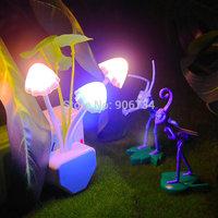 Beautiful Dream Mushroom Lamps LED lamps 220V 3 LEDs  Mushroom Lamp from night lights European regulations