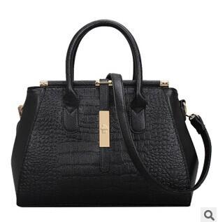 NEW 2015 Europe and America fashion Crocodile grain women handbag one shoulder bag PU leather tote bags RJ1367(China (Mainland))
