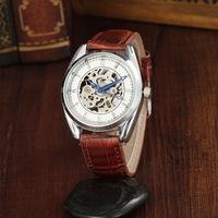Free shipping! New luxury mechanical wrist watches men, Fashion causal top grade leather quartz watch women