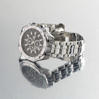 2015 Luxury Fashion Men's Stainless Steel Quartz Analog Hand Sport Wrist Watch