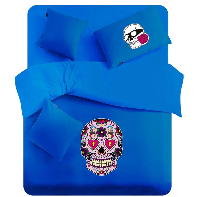 Cartoon skull lang Yi home textile printing set 1.8 m non-mainstream quilt set bedding 1.5(China (Mainland))