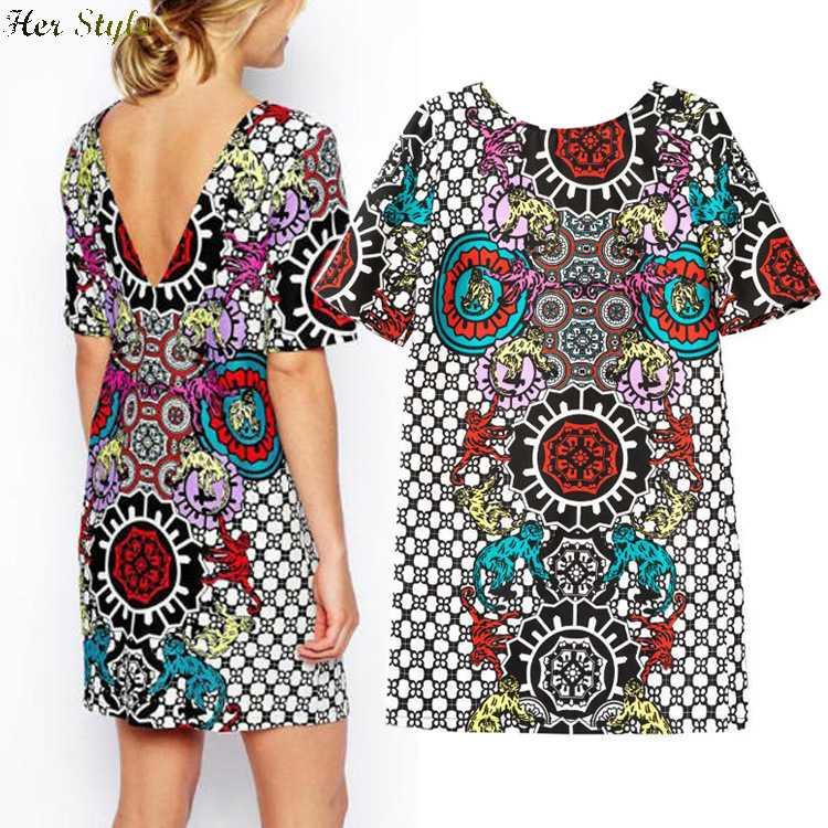 Kimono Sleeve Plus Size Dress Print Kimono Sleeve Dress