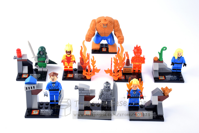 8pcs/lot t FANTASTIC FOUR SY167 Building Bricks Blocks Sets Marvel Figures Minifigure Toys Gift Compatible With Lego(China (Mainland))