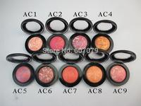(9pcs/lot) brand mc makeup blush,minerlize makeup blush 9color with english name+free hk post