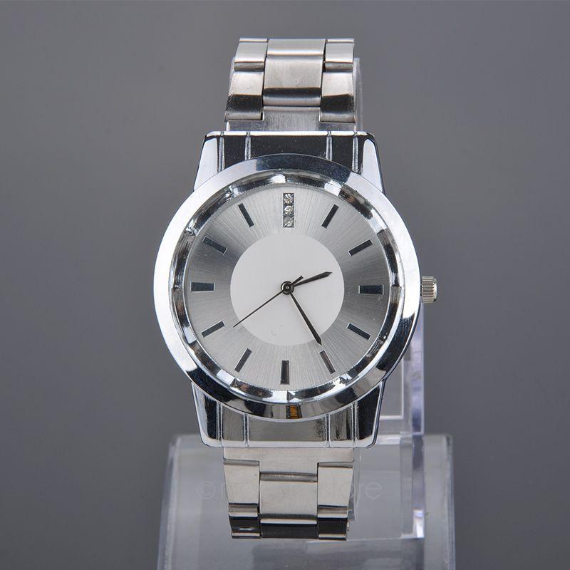 Shocked Quartz Crystals us Stock Lovers Watches Crystal Inlaid Full Steel Quartz Watch Women Men