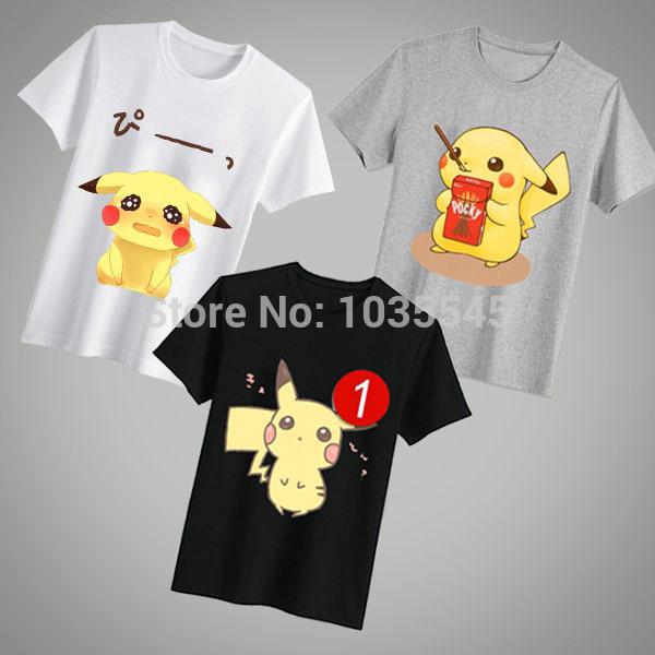 Zelda Link Pokemon Pikachu False Man Clothes Fashion t-shirts T-shirt Designers Carefully Designed Cartoon Game funny t shirt(China (Mainland))