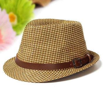 Розничные дети мальчики девочки дети прохладный соломы Sun пляжа лета Hat мягкая фетровая шляпа джаз шляпа проверка крышки свободного покроя мужская шляпы