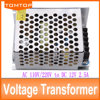 30W 2.5A 12V transformer power supply for led strip light AC110V/220V input voltage transformers for led lighting