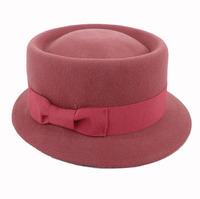 Wholesale 6pcs/Lot Vintage Women Wool Bucket Hats Brand Ladies Autumn Felt Fedora Caps Nice Lady Winter Trilby Hat & Cap On Line