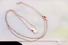 2015 New Fashion Short Rose Gold Bear Necklace Anti Allergy Clavicle Chain High Quality Fine Jewelry