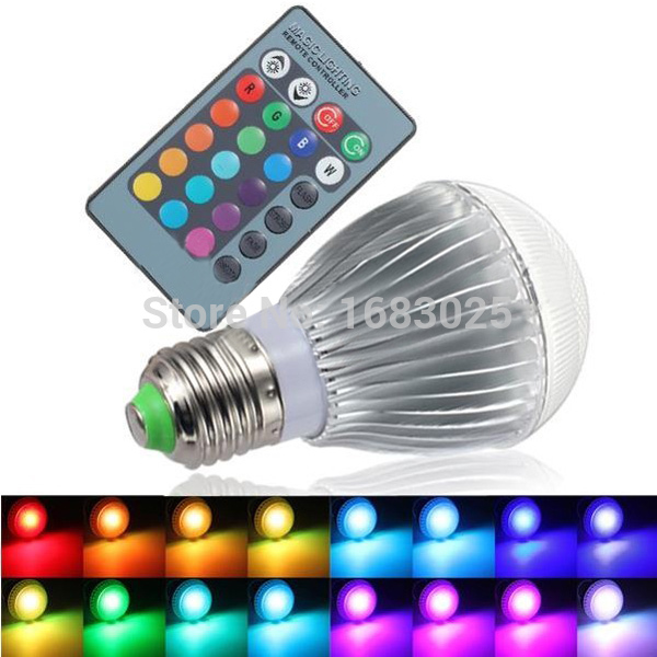 High Quality 9W E27 16 Color Change RGB LED Magic Spotlight Light Bulb Lamp 85-265V with IR Remote Control(China (Mainland))