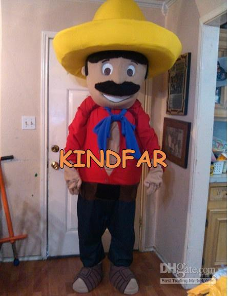 Hot selling 2014 Adult cute Husbandman Farmer Peasant Mascot Costume Adult Fancy Dress Cartoon Character Outfit Suit(China (Mainland))