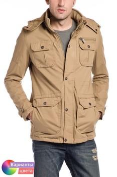Мужская куртка-пилот Let's GO с капюшоном из коллекции весна 2015 из Турции с бесплатной экспресс доставкой ( 14K6621 ) [ BR05 MCM01 TP40 SP07 ]