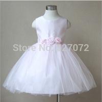 2015summer brand girls dress with appliques.kids party/evening pink lace princess dresses.big children wedding dress