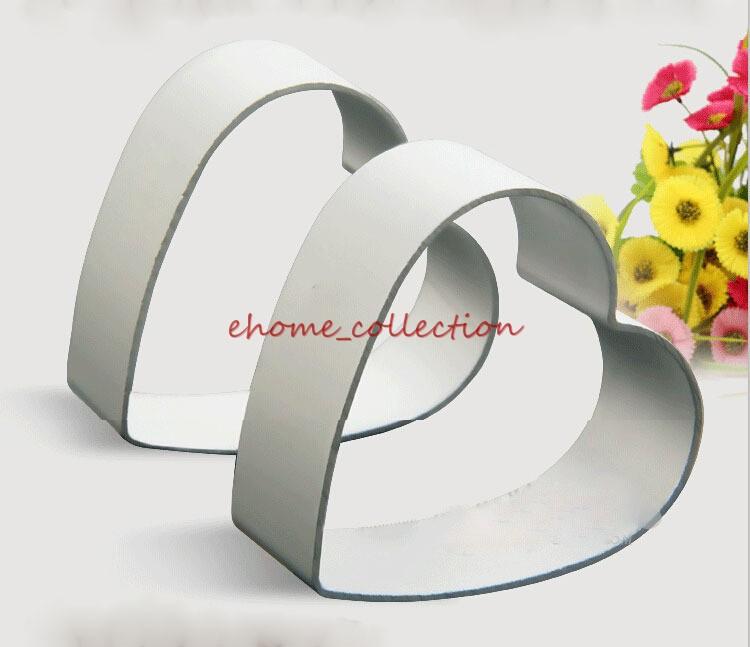 2 pçs/set forma do coração do Metal molde cortador de Fondant Sugarcraft decoração DIY pastelaria do cozimento da cozinha biscoito Mould ferramenta(China (Mainland))