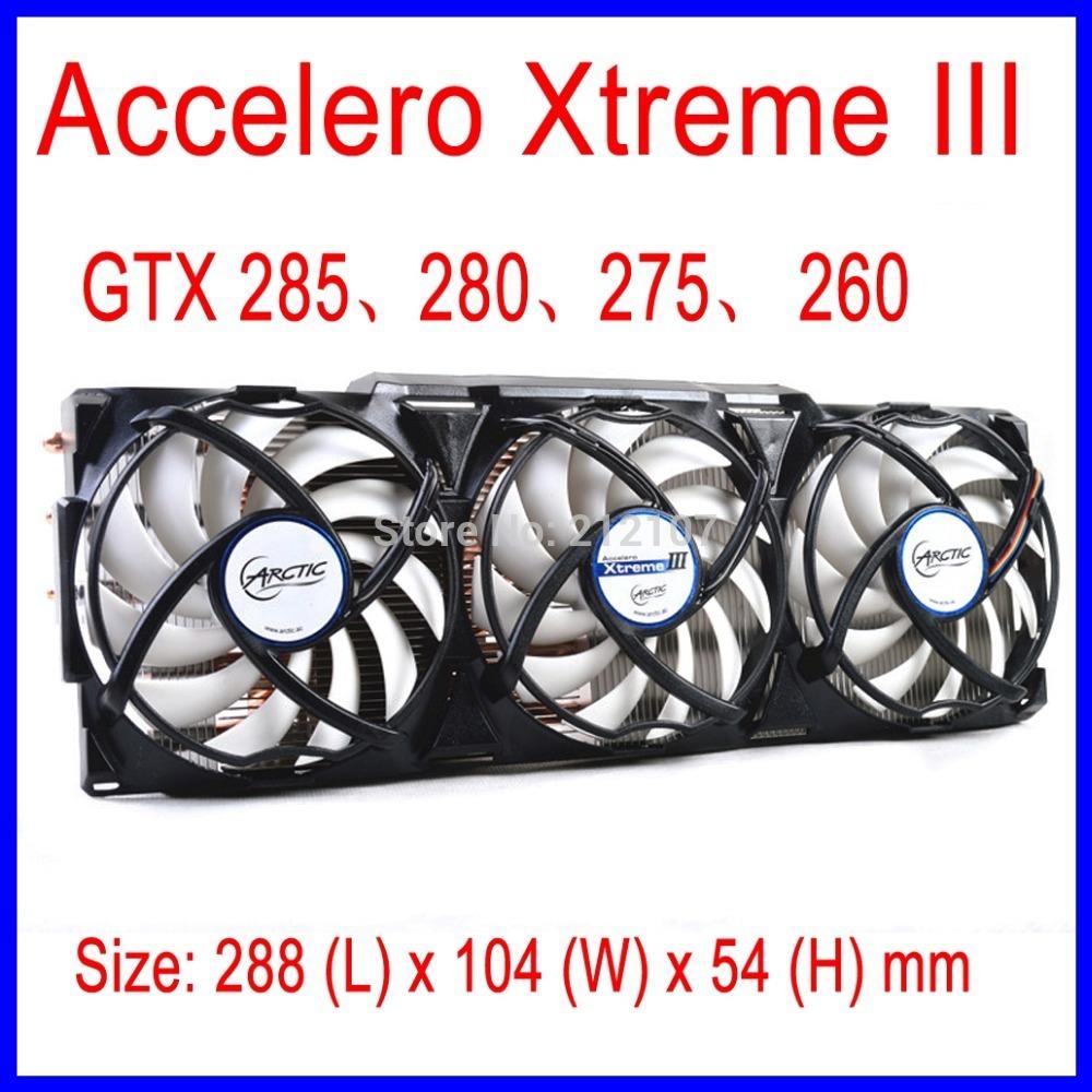 Охлаждение для компьютера ARCTIC Accelero Xtreme III VGA Cooler 3 92mm PWM AMD & nVidia GTX 285, 280, 275, 260 accelero xtreme iii vga cooler 3 quiet 92mm pwm fans for amd