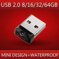 Waterproof Super Thin Mini USB 2.0 Flash Drive Pendrive 16gb 32gb 64gb Pendrives Memory Card Usb Stick Key Disk Gadget Gift
