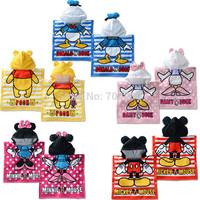 Retail-5 Designs Cat Duck Bear Hooded Animal modeling Baby Bathrobe/Cartoon Towel/Character beach towel/infant bath towel